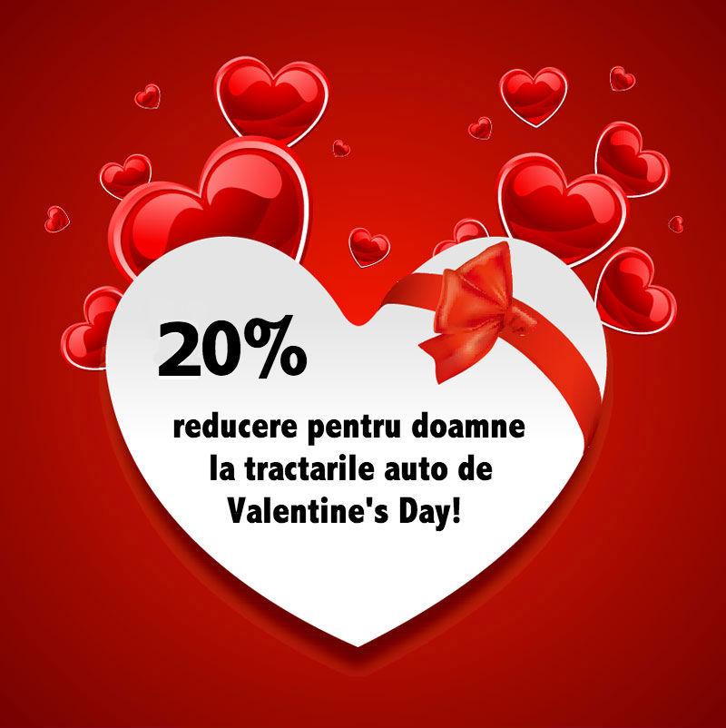 Tractari auto cu reducere de Valentines Day