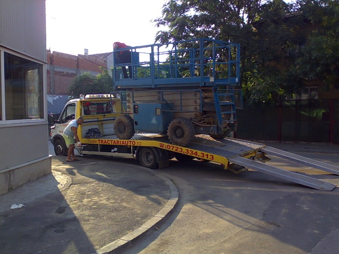 Transport pe platforma